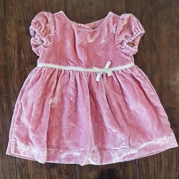 NWT babyGap Girls Lined Pink Bow Waist Dress Size 12-18  18-24 M /& 2 Yrs